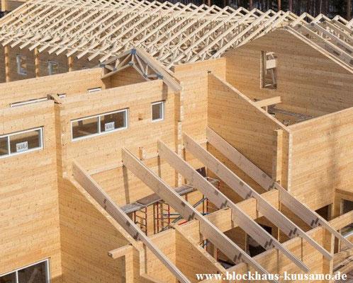 Blockhaus Rohbau - Ausbauhaus - Mitbauhaus - Bausatz - Bausatzhaus - Schlüsselfertig - Blockhaus bauen - Blockhausbau