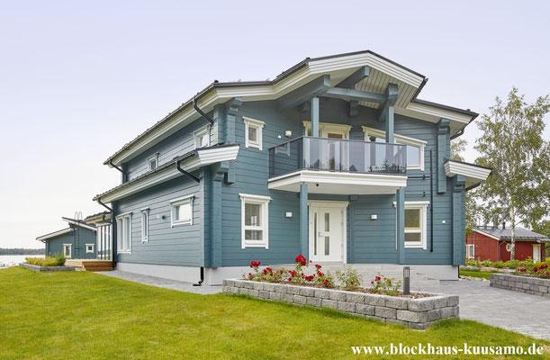Arhitektenhaus - Designhaus - Blockhaus in massiver Bauweise - Ökohaus - Biohaus - Einfamilienhaus - Holzhaus - Wohnblockhaus - © Blockhaus Kuusamo