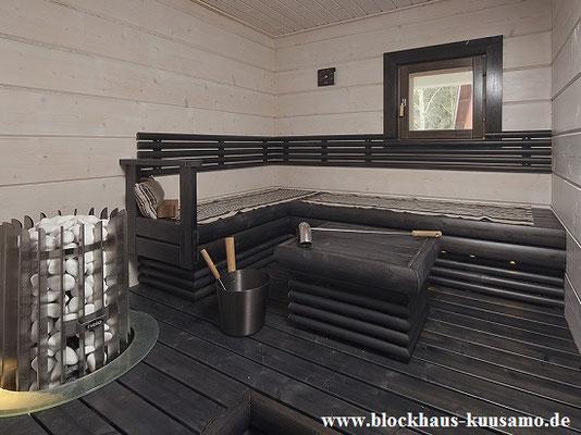 Sauna im Wohnblockhaus