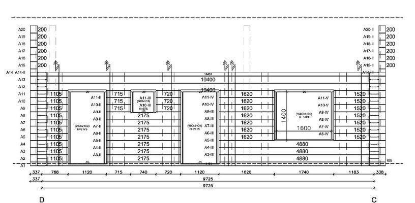 Werkplanung - Finnisches Blockhaus - Wohnblockhaus - Wandzeichnung - Kleines Holzhaus - Massivholzhaus - Bungalow - Singlehaus - Blockhausbau - Niedersachsen - Hannover