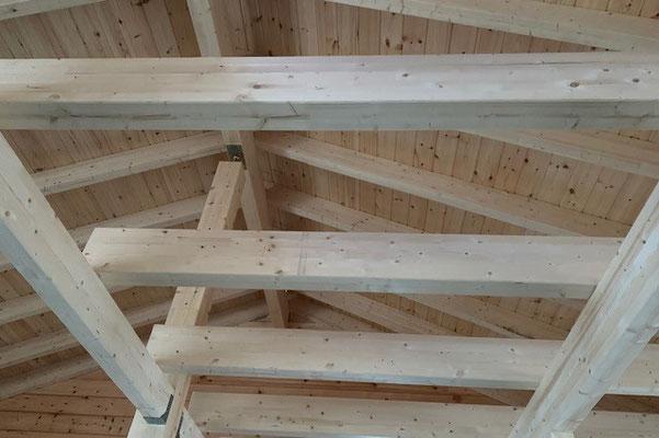 Holzhaus in Blockbauweise - Holzkonstruktion nach Statik