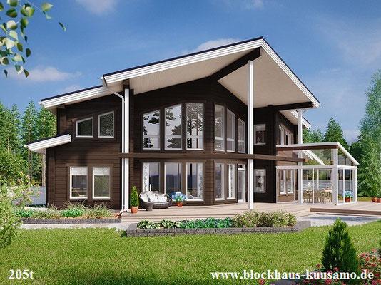 Einfamilienhaus in Blockbauweise