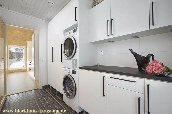 Hauswirtschaftsraum im Blockhaus - © Blockhaus Kuusamo
