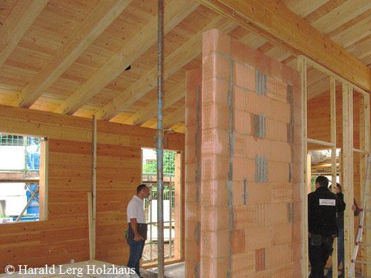 Blockhaus Ausbau - Holzhausbau - Wohnblockhaus - Hessen