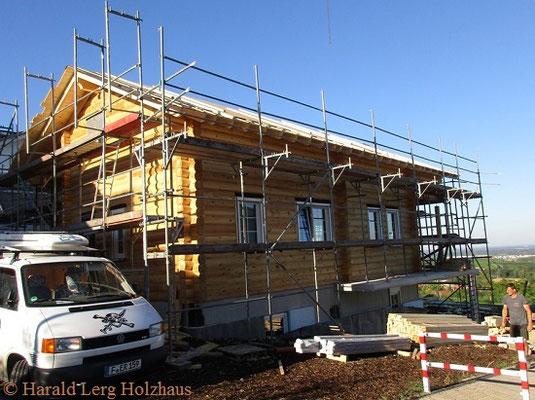 Blockhaus bauen Montage - Ökohaus - Biohaus