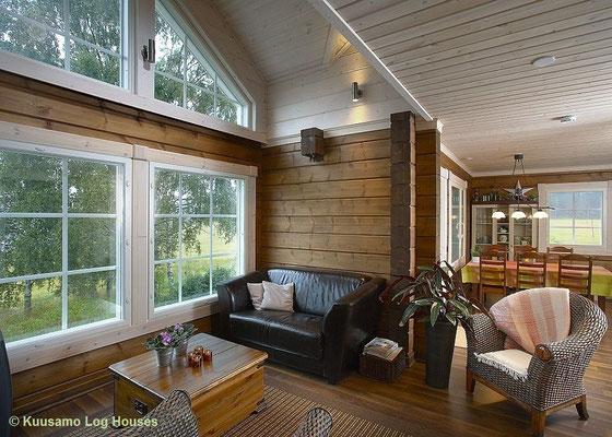Wohnhaus mit Galerie, Einfamilienhaus, Eigenheim, Küche -  © Blockhaus Kuusamo