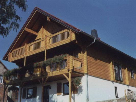 Großzügiges Holzhaus Eisenach in Thühringen  - Blockhaus - Hanghaus - Einfamilienhaus - Jagdhaus - Blockhausbau - Schweinfurt - Bad Kissingen - Wertheim - Bamberg - Würzburg