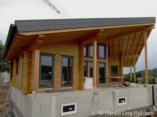 Blockhausbau - Holzhaus Traufe - Oberaula - Karben - Lampertheim - Viernheim - Marburg