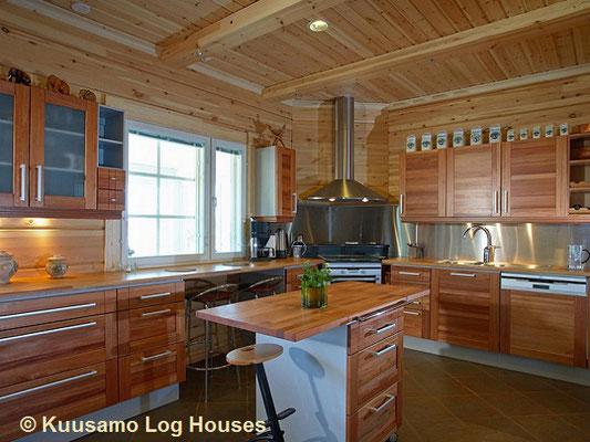 Großzügige  Küche im exklusiven Blockhaus - Chalet