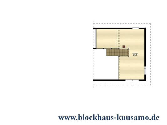 OG-Grundriss - Holzhaus  Entwurf - Holzbau