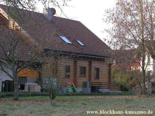 Massivholzhaus - Wohnblockhaus bei Fulda - Hessen - Architektenhaus - Traumhaus
