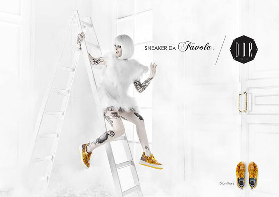 catalogo Dor Sneakers by ph. Mauro Martignoni - costumes, accessories and styling by Flavia Cavalcanti