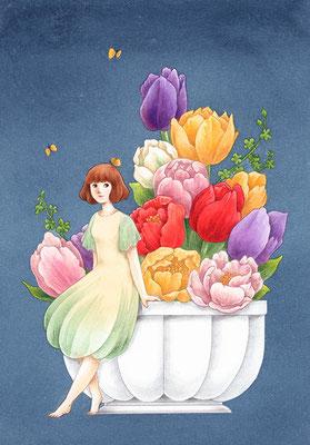 「花のあの子 4」
