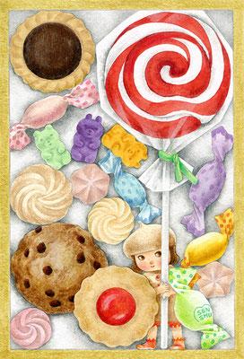 「お菓子でかくれんぼ」2016個展より