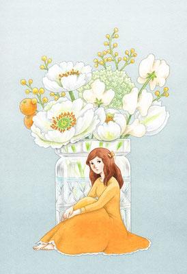 「花のあの子 3」