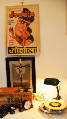 Bollywood Werbeplakat Original 50er Jahre, Art Deco Lampe