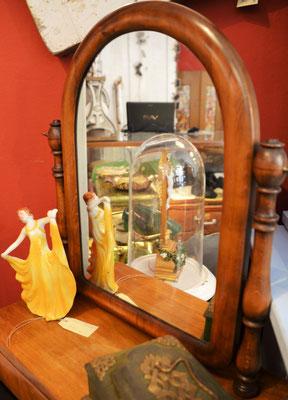 Tischspiegel, Psyche, Schmuckkästchen Jugendstil, Holglas