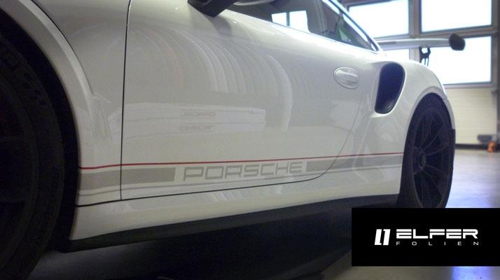 Porsche GT3 RS Streifendesign Folierung