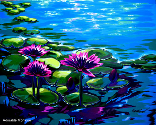 """""""Pink Blossom"""" Acrylic on canvas"""