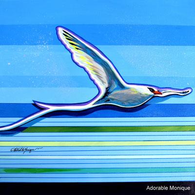 """Into the Blue"" Acrylic on canvas"