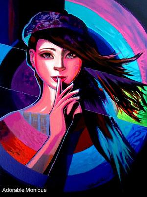 """""""Shhh..."""" Acrylic on canvas"""