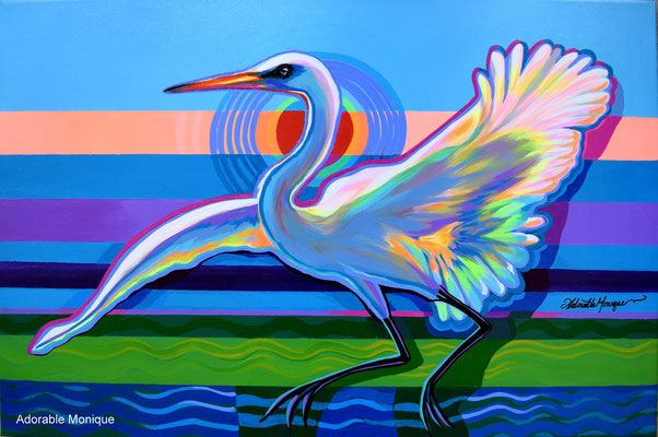 """Water Dancing"" Acrylic on canvas"