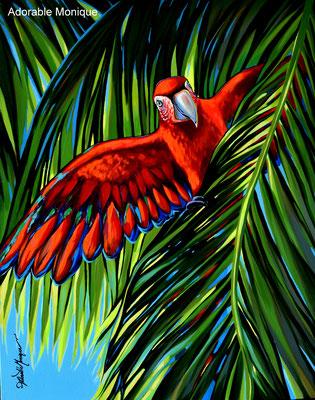 """""""Scarlet"""" Acrylic on canvas"""