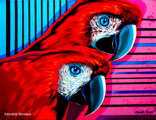 """""""Exotic Red"""" Acrylic on canvas"""