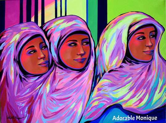 """Three Muses"" Acrylic on canvas"