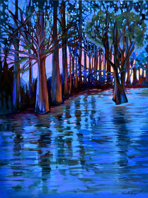 Awakening, acrylic on canvas 24x18 Inches