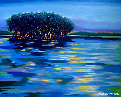 """Blue Serenity"" Acrylic on canvas"