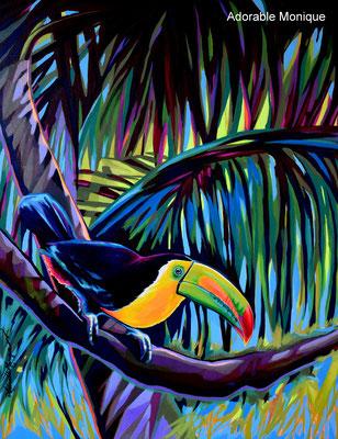 """ Tropical Breeze"" Acrylic on canvas"
