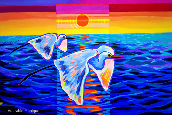 """Essence in Flight"" Acrylic on canvas"