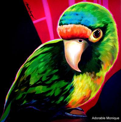 """Parakeet Baby"" Acrylic on canvas"