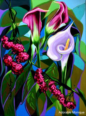 """Endless Callas"" Acrylic on canvas  SOLD"