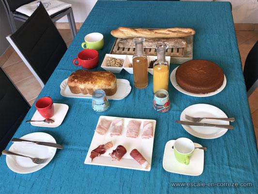 Petit déjeuner , Escale en Corrèze .