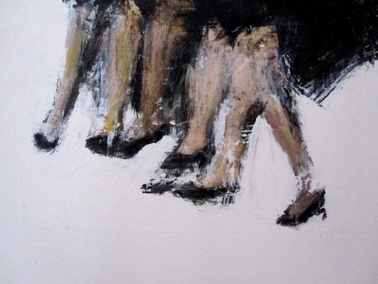 Beine 24x18,2012 Acryl, Tusche, Graphit auf Leinwand