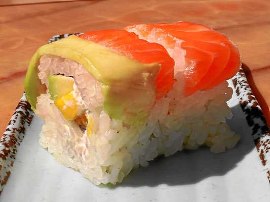 Inside-out Roll mit Lachs