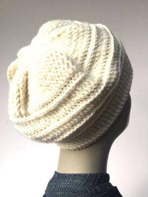 Wi 71 - Kopfbedeckung nach Chemo - Wintermodelle - Kreisel gehäkelt - weiss