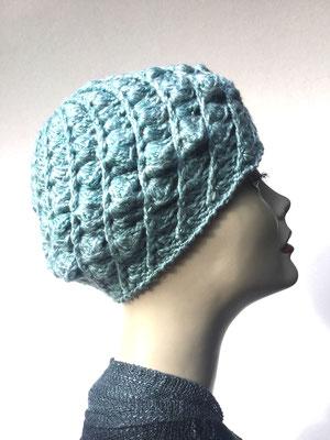 Wi 69 - Kopfbedeckung kaufen  - Artischocke gehäkelt weniger Volumen - hellblau