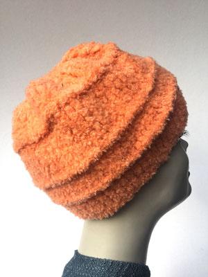 Wi 73 - Kopfbedeckung nach Chemo - Wintermodelle - Kreisel gehäkelt - orange