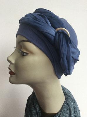 G39h - Kopfbedeckungen kaufen - Baumwollschlauch (Jersey) und Chäppli - blau