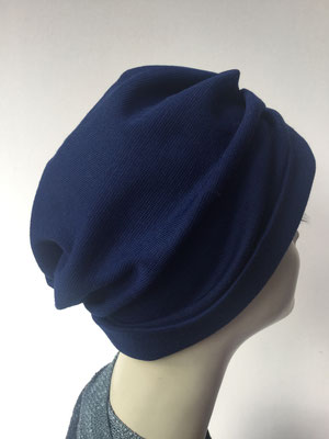 """Wi 30 - Turban """"Nizza"""" ohne Schlaufe - dunkelblau- Kopfbedeckung kaufen"""