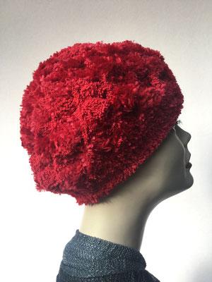 Wi 69d - Kopfbedeckung kaufen  - Artischocke gehäkelt weniger Volumen - rot