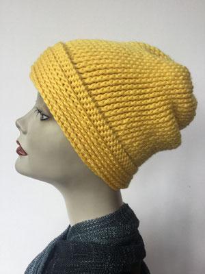 Wi 84 - Kopfbedeckung kaufen - Wintermodelle - Melone gehäkelt - gelb