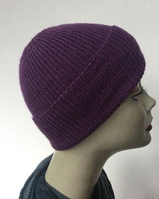 Wi 99d- Vreni Lorenzini - Kopfbedeckungen kaufen- Wintermodelle - Melone gestrickt - violett