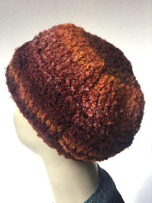Wi 79b  - Kopfbedeckung nach Chemo  - Wintermodelle - Kreisel gehäkelt - Rosttöne