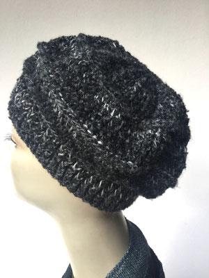 Wi 78  - Kopfbedeckung nach Chemo - Wintermodelle - Kreisel gehäkelt - atrazit mit Muster