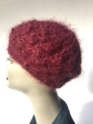 Wi 67 - Kopfbedeckung kaufen  - Artischocke gehäkelt weniger Volumen - kuscheliges Rot