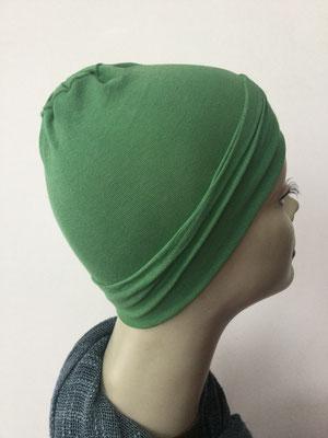 G10 - Kopfbedeckungen nach Chemo - Baumwollchäppli fein - grün